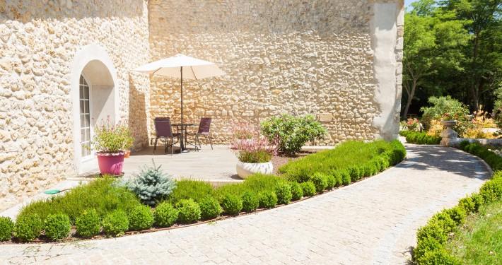terrasse extérieure domaine