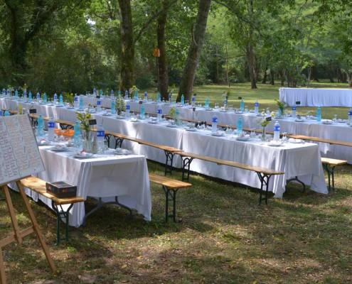 Réception extérieure - Location mariage